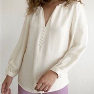 Maria Stanley Almond Blouse In Bone | XS